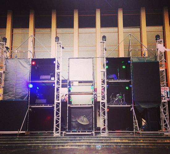 Для концерту Genetic Station збудували шестиметрову сцену