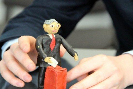 Кандидати у президенти з пластиліну з'явилися в Ужгороді