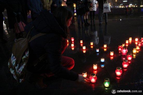 В Ужгороді згадували загиблих Героїв Майдану
