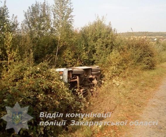На Закарпатті у ДТП постраждало 6 пасажирів автобуса. ФОТО
